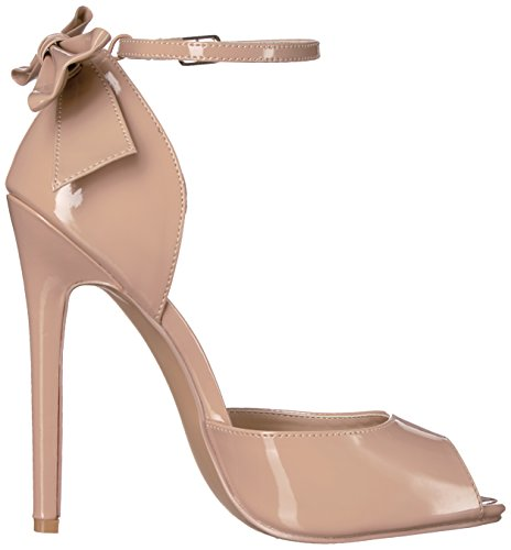 Pleaser Sexy de 16Stiletto Heel, Peep Toe d'Orsay Pumps, Nude, 35–44 Nude Pat