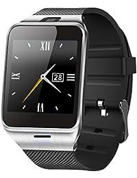 "Smartwatch Demiawaking Relojes Inteligentes Aplus GV18 Bluetooth Reloj De Pulsera Smart Phone Mate 1.55 ""GSM NFC SIM Astilla (Negro)"
