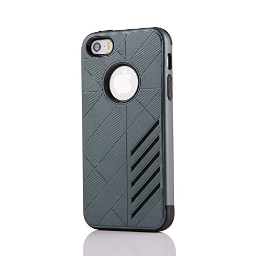 UKDANDANWEI Apple iPhone SE 2 in 1 Hybrid Armor Dual-Layer Hard PC + Flexible Soft TPU Slim Case Shock-Proof Schützende Shield für Apple iPhone SE - Roségold Saphir
