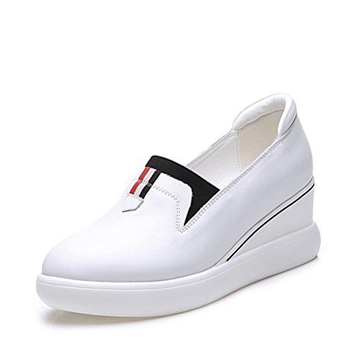 Weiß Spitze Flache Kurzschaft Schnürsenkel Innenaufzug Damen Einfache Sneakers Herbst Weiche qI5wxzZ