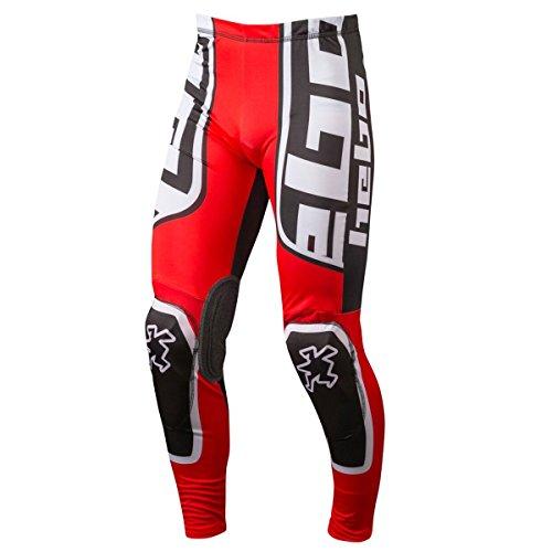 HEBO HE3172RXXL Trial Race Pro II Pantalon, Rojo, Talla XXL