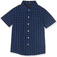 Tommy Hilfiger Essential overdye Gi Shirt for Boys, Blue, Size 16 Years
