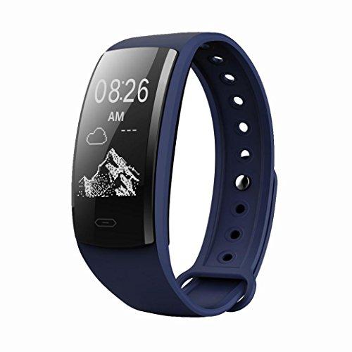 samLIKE 丨 Smart Watch 丨 Herzfrequenz ✚ Blutdruck ✚ Blutsauerstoff Rekord 丨 Multi Sportmodus 丨 Remote-Kamera 丨 Wetterinformationen 丨 200MM x 21MM 丨【 Design für Sportbegeisterte ⭐️】 (❤️ Dunkelblau) 256k Flash