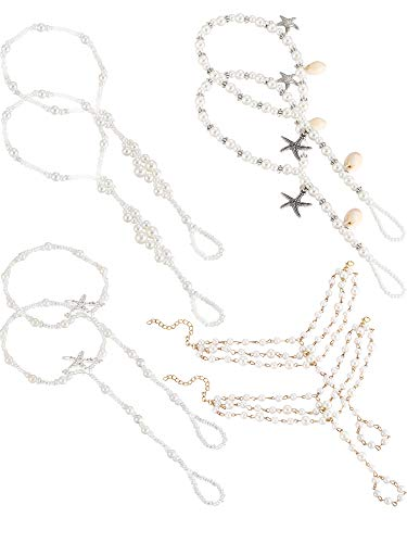 � Sandalen Knöchelkette Armbänder Fußkettchen Strand Hochzeit Fußschmuck für Mädchen und Damen ()