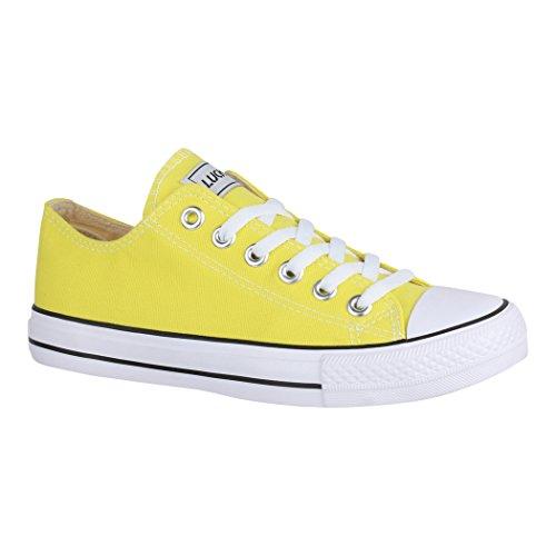 Elara Unisex Sneaker | Damen Herren | Low Top | Chunkyrayan Chucks-Flach-1-CA01-Yellow-40