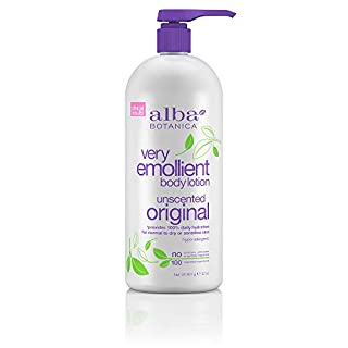 Alba Botanica Very Emollient Body Lotion, Unscented, 32-Ounce Bottle