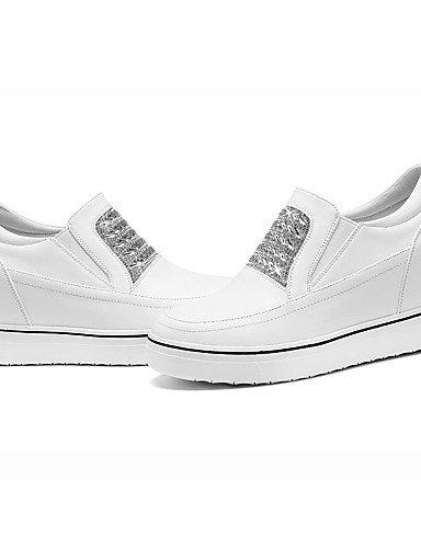 ZQ Scarpe Donna-Sneakers alla moda-Ufficio e lavoro / Formale / Casual-Creepers-Piatto-Finta pelle-Nero / Bianco , white-us8 / eu39 / uk6 / cn39 , white-us8 / eu39 / uk6 / cn39 white-us8 / eu39 / uk6 / cn39