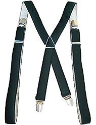 Bretelles fines vertes largeur 2,5 cm Longueur 120cm ajustable à la taille - Pour homme ou femme