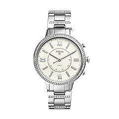 Idea Regalo - Fossil Smartwatch Analogico Quarzo da Donna con Cinturino in Acciaio Inox FTW5009