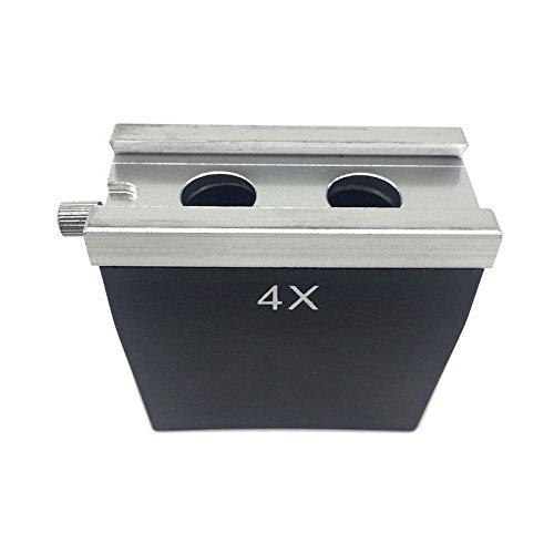 LEPAKSHI 2X : Partes do microscópio Acessório 1X 2X 3X 4X Lente Objetiva para Microscópio Estéreo
