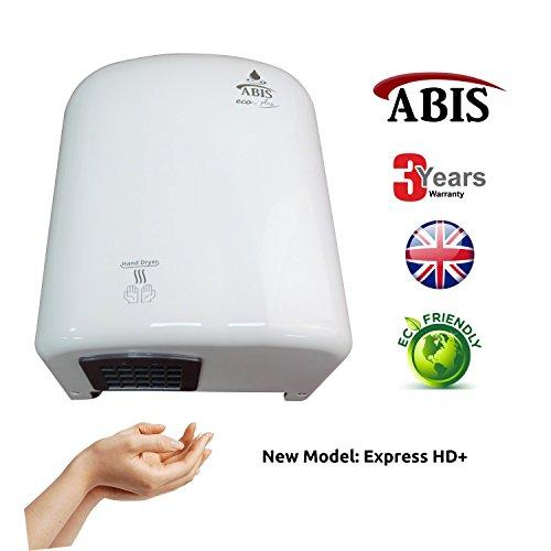 Elektrische Hand Trockner (Elektrische Händetrockner - Automatische Sensor kommerzielle Händetrockner günstig im Betrieb am Besten für Waschraum 3 Jahre Garantie)