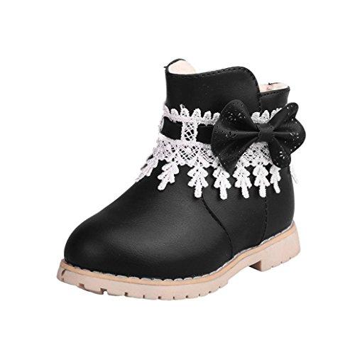 Babyschuhe,Sannysis Kinder Warm Jungen Mädchen Schneeflocke Martin Sneaker Stiefel Kinder Baby Freizeitschuhe 1-6Jahre (23, Schwarz)