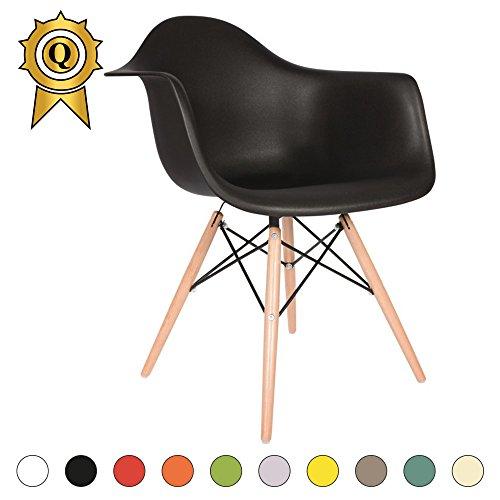 VERKAUF! 1 x Design-Stuhl Eiffel Stil Natural Wood Beine und Sitz Farbe Master Mobistyl® DAWL-M-1