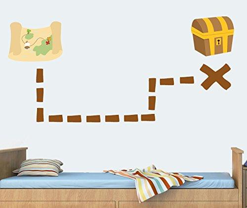 trasure-motivo-pirati-per-bambini-motivo-mappa-x-segni-the-spot-confezione-da-16-riposizionabile-da-