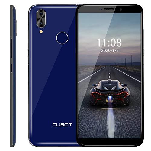 CUBOT J7 Smartphone 5.7 Pollici Android 9, Face ID e Impronte Digitali ID, 2800mAh, 2RAM 16ROM, Fotocamera Posteriore 13.0MP+2.0MPDual SIM, 3G Cellulare Blu
