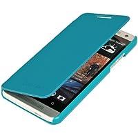 kwmobile Flip Case Hülle für HTC One Mini M4 - Aufklappbare Schutzhülle Tasche im Flip Cover Style in Hellblau