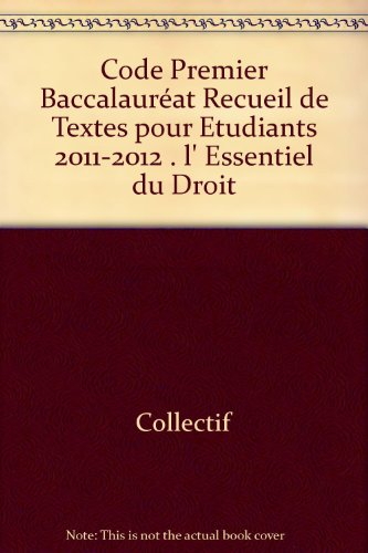 Code 1er baccalauréat. 2011-2012