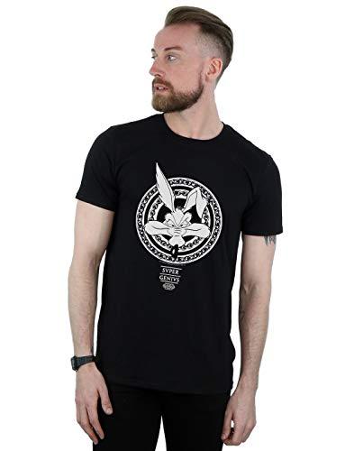 Looney Tunes Herren Wile E Coyote Super Genius T-Shirt Schwarz XXXX-Large