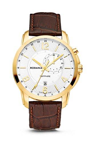 Rodania–Travel Reloj de hombre, diámetro de 44mm, color dorado