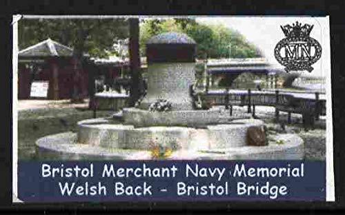 Cinderella - Great Britain 2001 Bristol Merchant Navy Memorial undenominated self-adhesive label u/m NAVY SHIPS SELF ADHESIVE JandRStamps Bristol Memorial