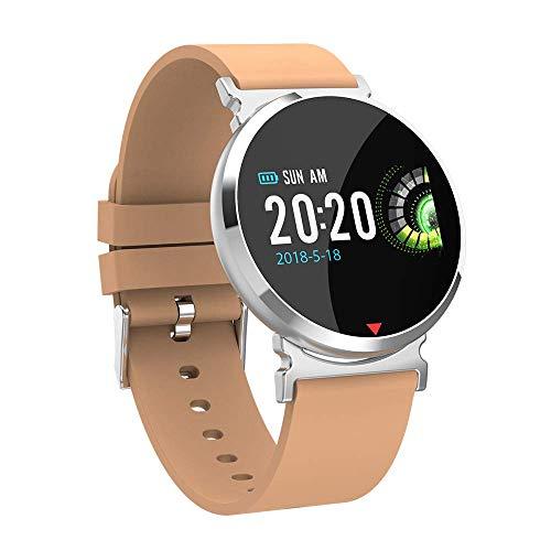 OJBDK Smart Watch Fitness Tracker 24 Ore di attività Tracker Watch Fitness Guarda Passi Calorie Distanza contatore Heart Rate Monitor pedometro Orologio Business Fashion Design IP67 Impermeabile,Gold