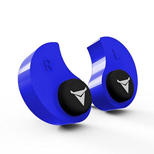 dDecibullz Custom Bouchons d'oreilles moulés: Taille Unique tous les bouchons d'oreille, Voyage, Travail, de sécurité Taille unique bleu image 2