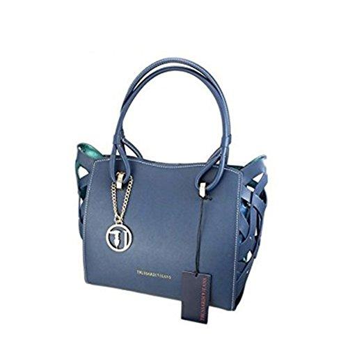 Borsa Donna in Ecopelle | Trussardi Jeans Dahlia | 75B0033899999-Blue