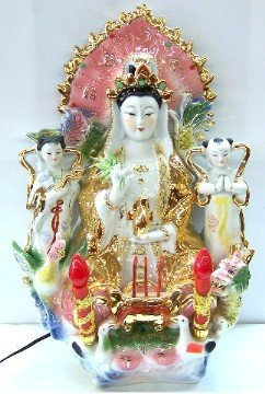 Sitting Kwan Yin with Lights