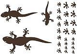 Samunshi® Gecko Wandtattoo Creativ-Set in 5 Größen und 25 Farben (32x22cm braun)