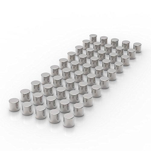 LeTOMA 40 Starke Neodym Magnete D4x4 mm N45 - Ideal für Fotoseile (Metall Leine-halter)