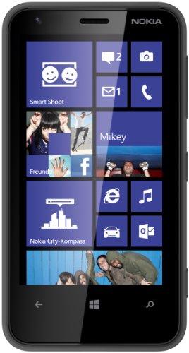 Image of Nokia Lumia 620 Smartphone (9,7 cm (3,8 Zoll) Touchscreen, Snapdragon S4, Dual-Core, 1GHz, 512MB RAM, 5 Megapixel Kamera, Win 8, micro SIM) matt-schwarz