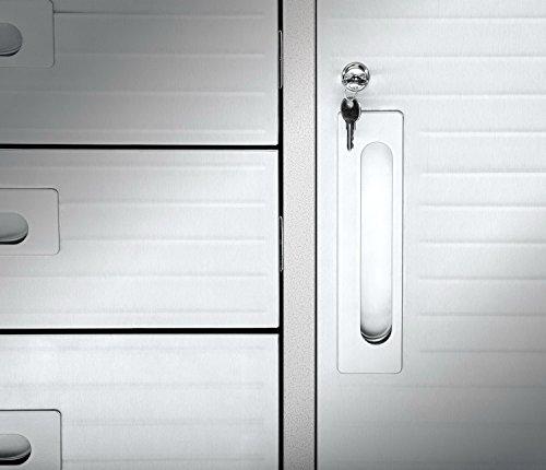Seville Classics UHD20242 Werkstattwagen mit 12 Schubladen, 182,9 x 50,8 x 95,2 cm, Metall pulverbeschichtet, Buche Holzarbeitsplatte, grau - 3