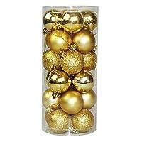 24 قطعة 4 سم كرات شجرة عيد الميلاد ديكورات حفلات الزفاف زخرفة عيد الميلاد كرة ذهبية