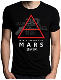 Sixtion 30 Thirty Seconds To Mars Glyphic Symbol Logo MenS T-Shirt