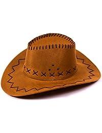chapeau de cowboy Wild West Western pour enfant / ados - disponibles en plusieurs couleurs
