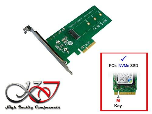Kalea Informatique Karte Controller PCIe 2.0x4Für SSD M2PCIe Typ M Key–Akzeptiere die Formate 2230224222602280 (Motherboard-m2-slot)