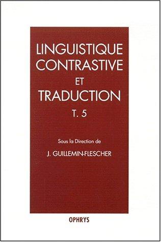 Linguistique  contrastive et traduction par Collectif