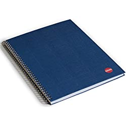 RHINO A4 Ruled Twin Wired Hardback Notebook - Blue