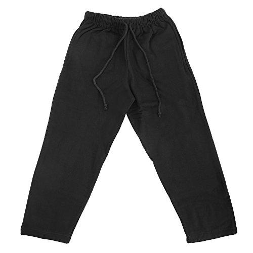 Pantaloni sportivi per Bambini - Tinta Unita - Unisex (7-8 anni - 66 cm vita) (Nero)