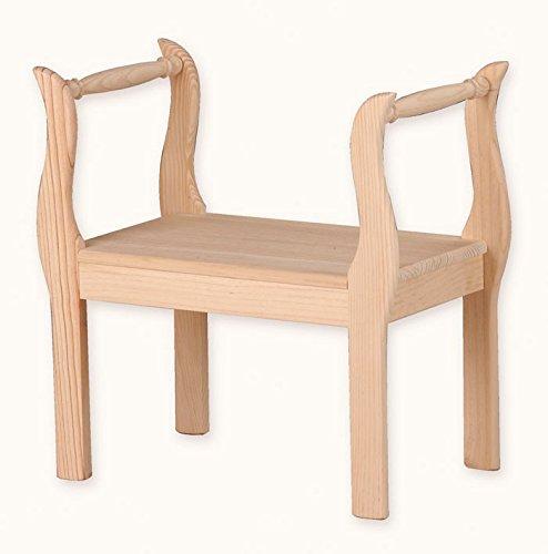Muebles Natural - Banqueta Princesa 60 en madera...
