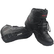 Madbike - Botas de hombre para motocicleta, uso exterior, color negro, negro, EU41(UK7)