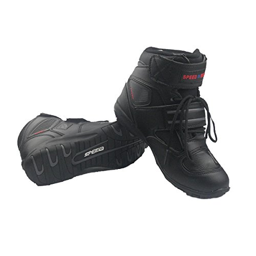Madbike - Botas de hombre para motocicleta, uso exterior, color negro, negro,...