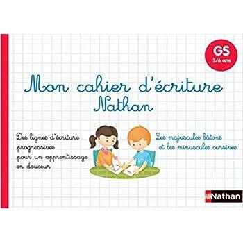 Mon cahier d'écriture GS - maternelle Grande Section