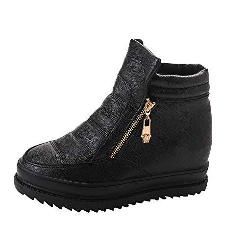 Dragon868 stivali donna eleganti scarpe zeppa interna sneakers scarpe spuntate con zip tacchi alti scarpe comode per camminare invernali