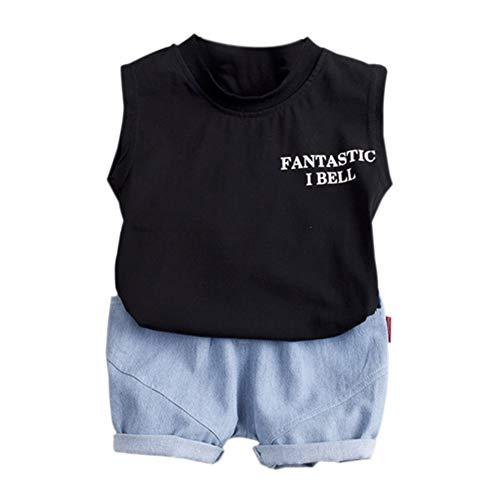 Gyratedream Sommer Jungen Mädchen Beiläufige Sleeveless Brief Dinosaur Print Weste Tops + Shorts Anzüge Kostüm - Amp Anzug Kostüm