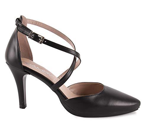 Chamby-Zapatos Abiertos Talon Tiras Cruzadas- 39