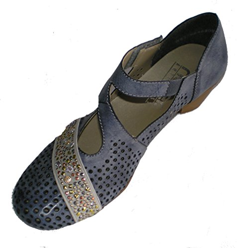 Rieker 47645-14 donna Pumps jeans/grigio