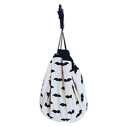 Aolvo Leinwand Aufbewahrung Tasche, Spielzeug zum Aufhängen Aufbewahrungstasche Stofftier Sitzsack...