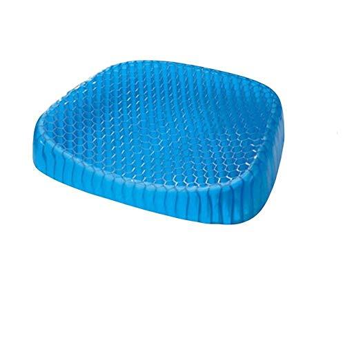 Sitzkissen Gel - Delaman Low Rebound Kissen, Gesundheit Stuhlkissen, atmungsaktiv, kühl, rutschfest, Bürostuhl Auto, blau