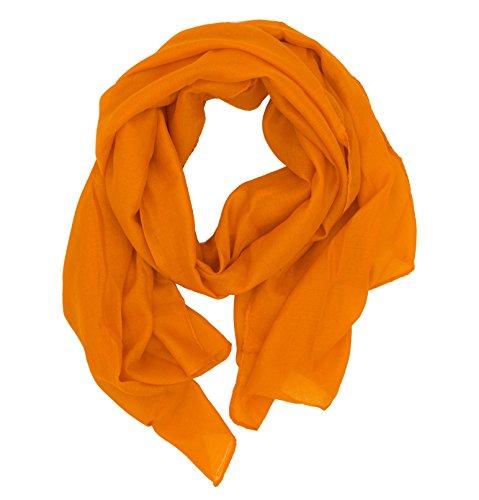 WILD CAT Damen Schal Halstuch Tuch aus Chiffon für Frühling Sommer Ganzjährig (Ocker)